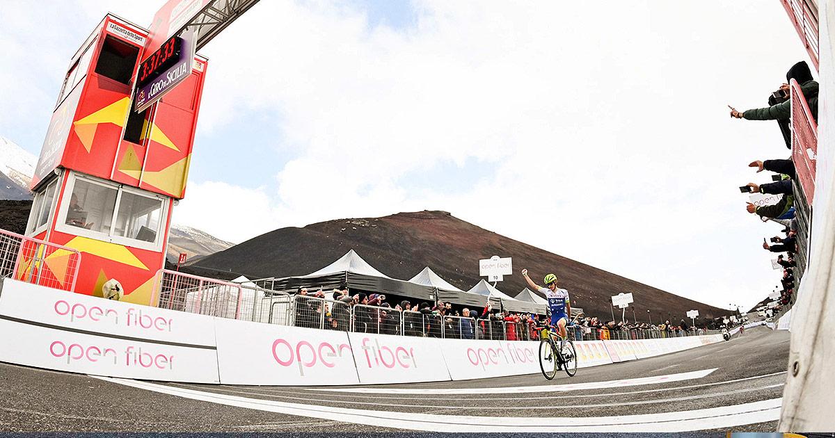 Guillaume Martin vincitore della quarta tappa del Giro di Sicilia Open Fiber