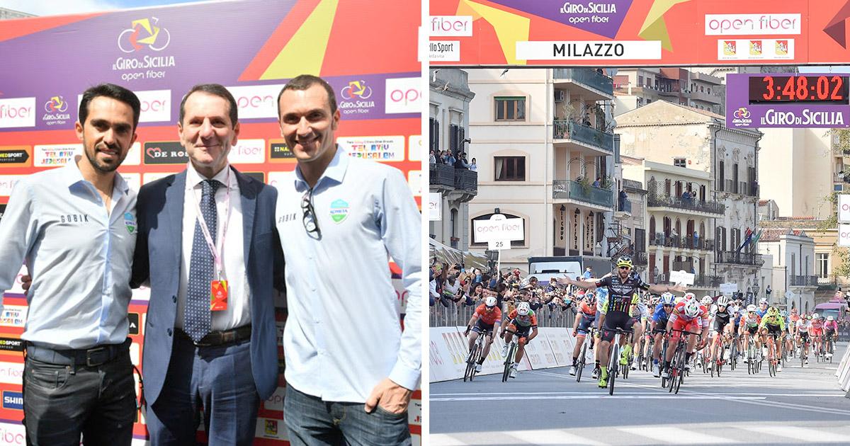 Assessore Pappalardo, Alberto Contador e Ivan Basso