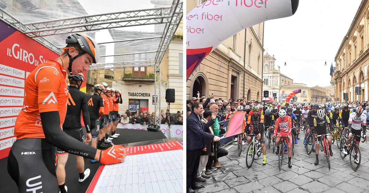 Partenza terza tappa Giro di Sicilia