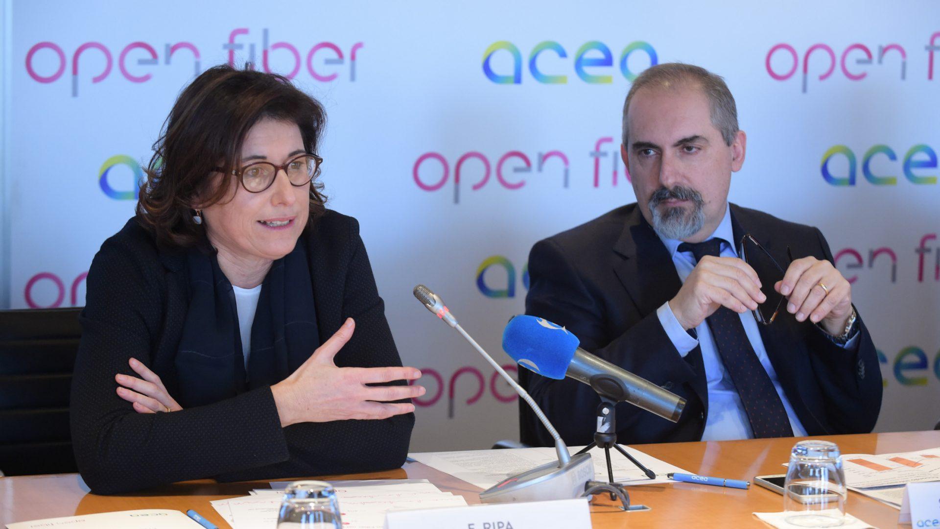 Roma corre veloce: siglato l'accordo tra Open Fiber e ACEA per la BUL