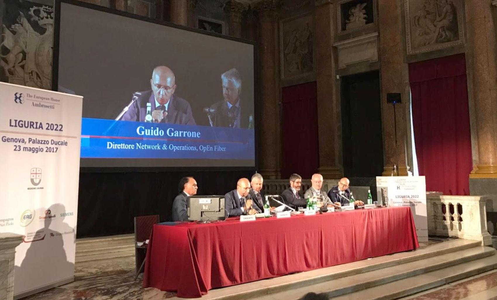 Liguria2022, Open Fiber al Forum Ambrosetti: 100 milioni di euro per la Liguria