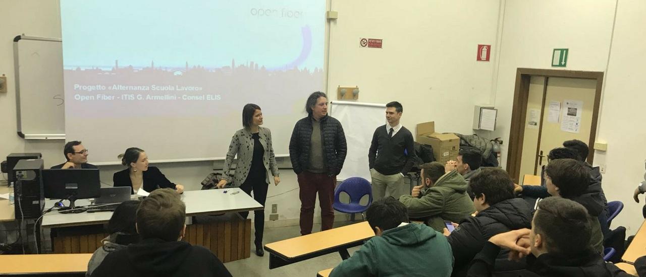 Open Fiber ed Elis all'ITIS Armellini per l'alternanza scuola-lavoro