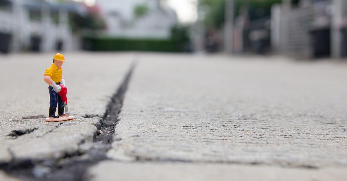 Il ripristino del manto stradale