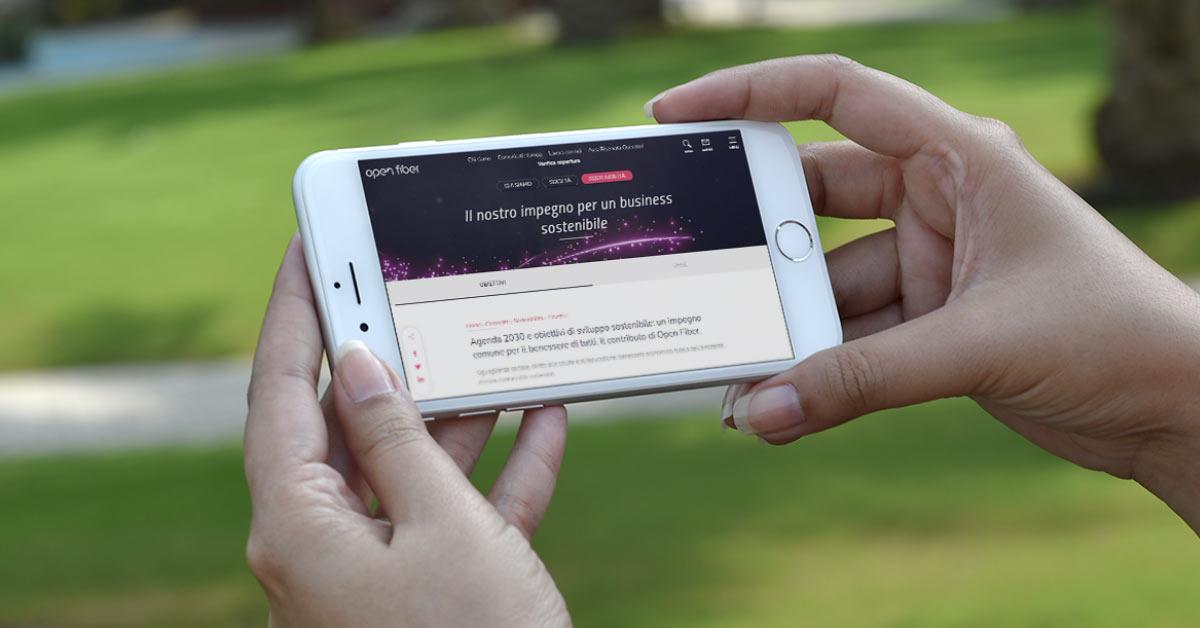 Sostenibilità digitale: la strategia Open Fiber per il 2021
